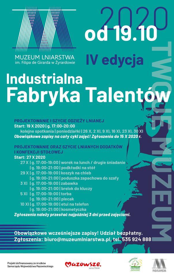 Plakat industrialna fabryka talentów