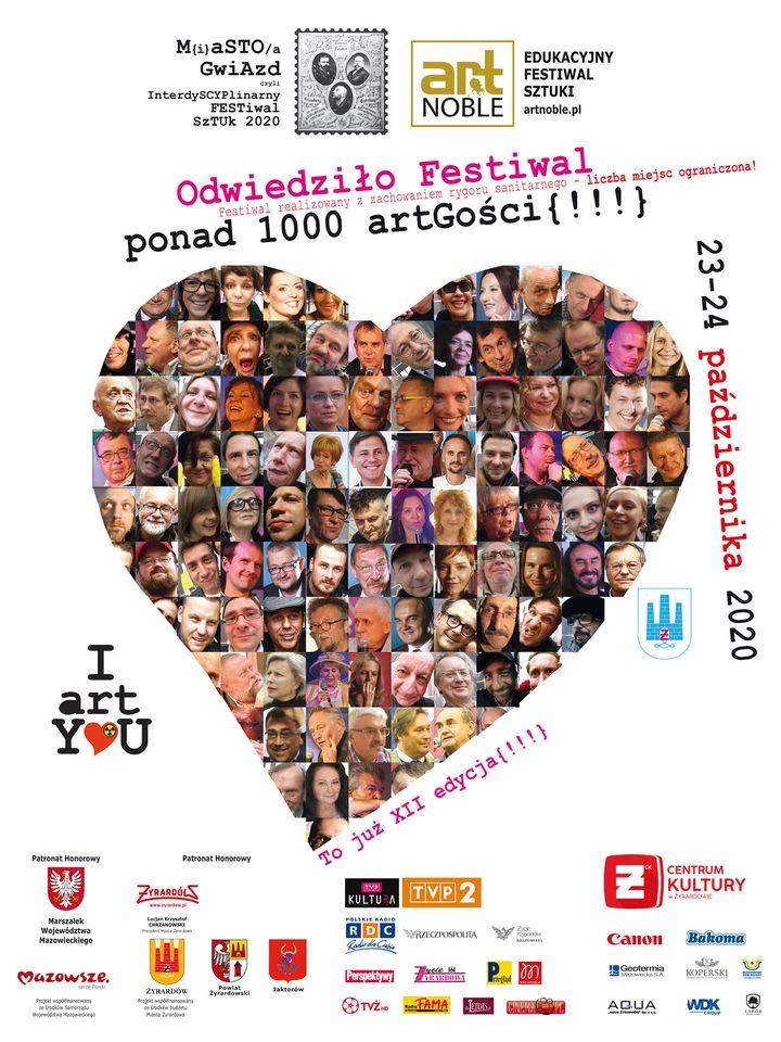 plakat festiwalu miasto gwiazd