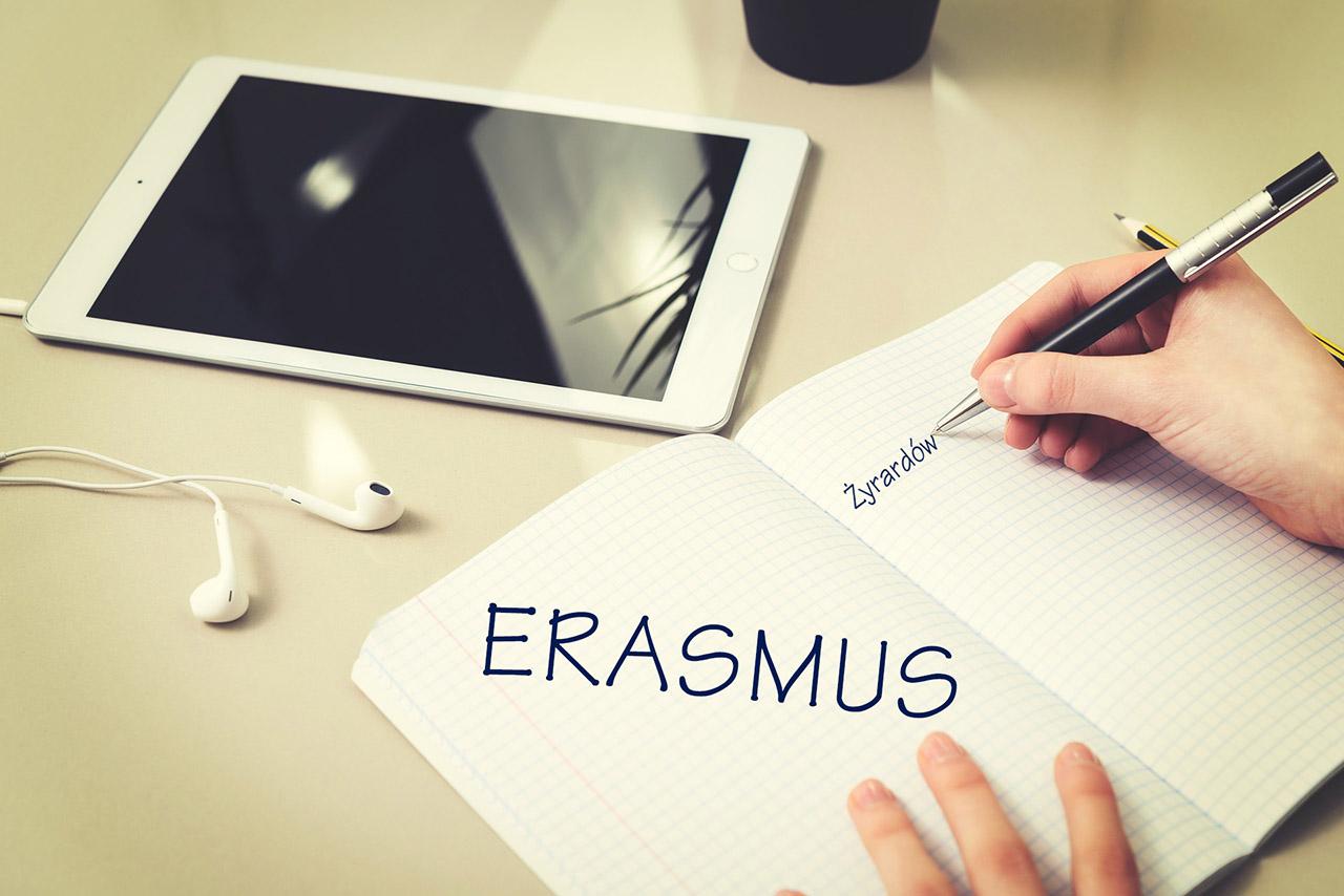 grafika promująca projekt Erasmus