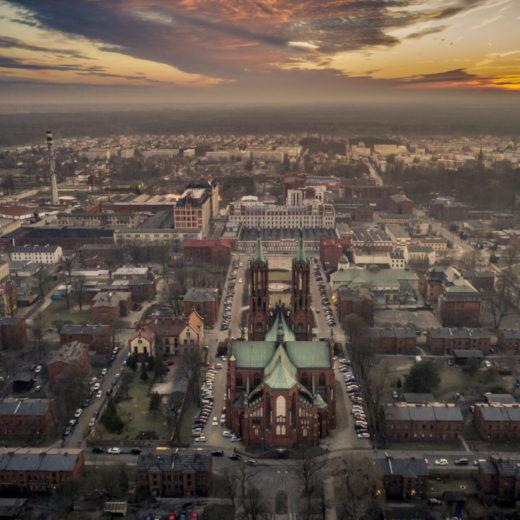 Widok z lotu ptaka na Miasto Żyrardów