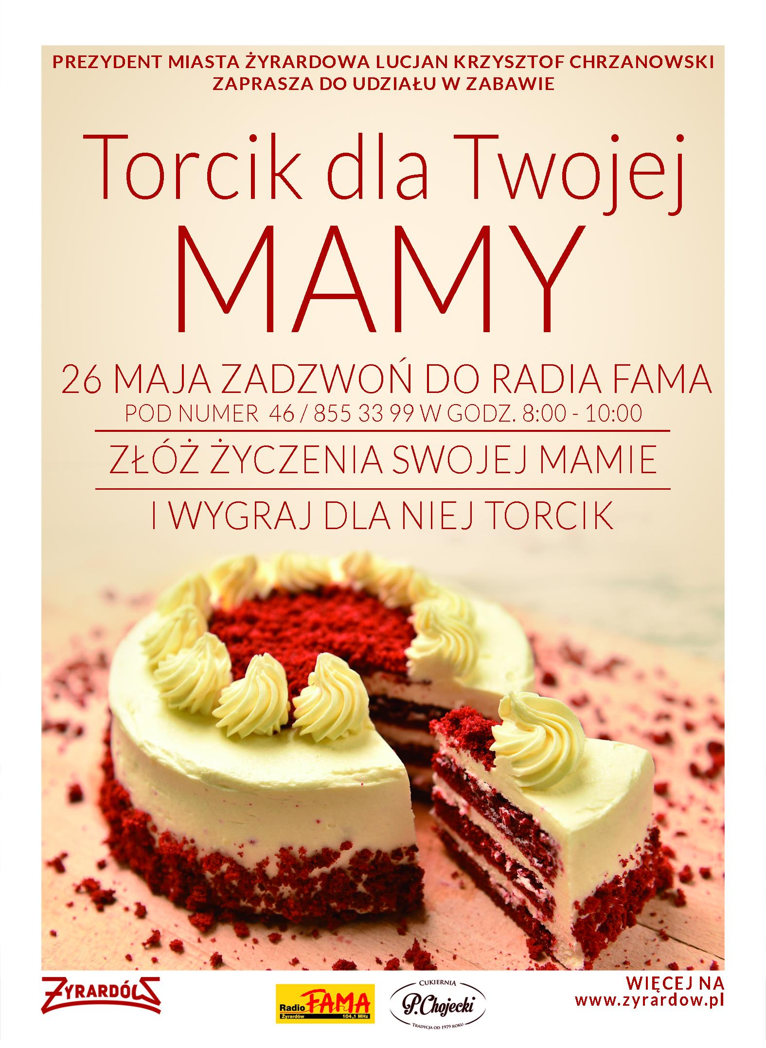 plakat torcik dla mamy
