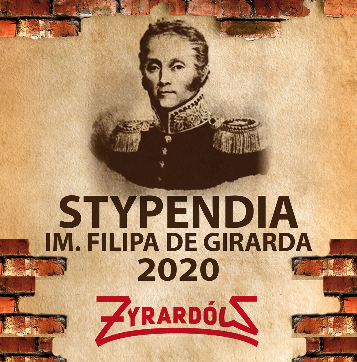 grafika promująca stypendia Fipipa de Girarda